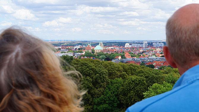 Tolle Aussicht auf den Erfurter Dom