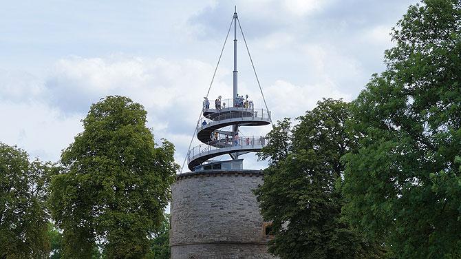 Aussichtsturm im Erfurter egapark