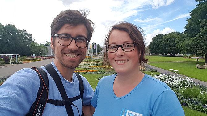 Ich mit Melanie im egapark Erfurt
