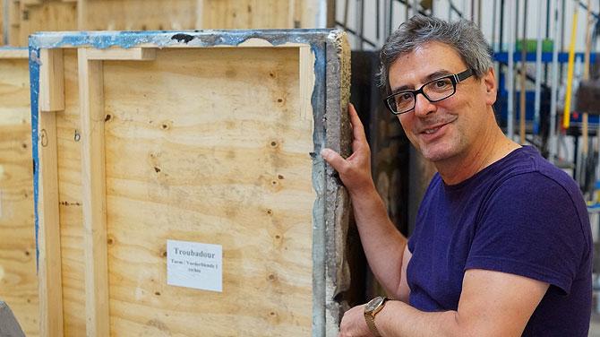 Hank an der Wand für den Troubadour