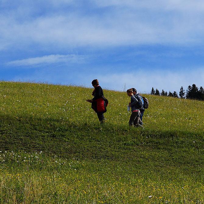 Wandern und Wanderungen im Allgäu sind befreiend.
