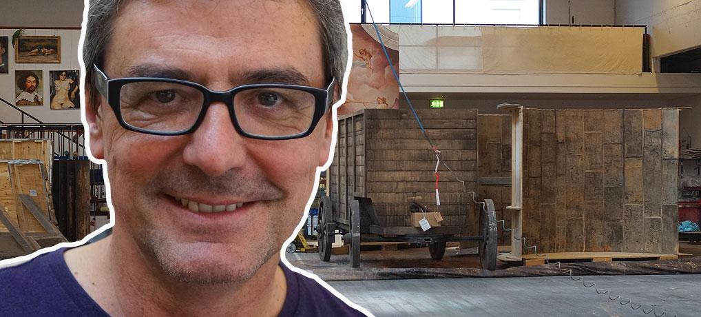 Hank Kittel ist Bühnenbilder für die Erfurter Domstufenfestspiele am Theater Erfurt