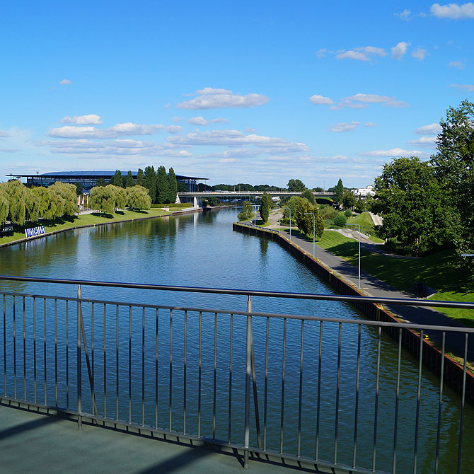 Die Aller ist der Fluss von Wolfsburg.