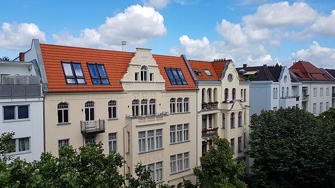 Ausblick auf die Berliner Meinekestraße