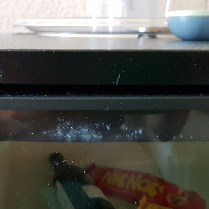 Flecken auf dem Kühlschrank