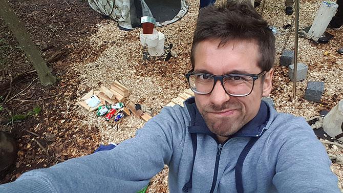 Ich beim Outdoorf Escape Game im Waldklettergarten Stuttgart
