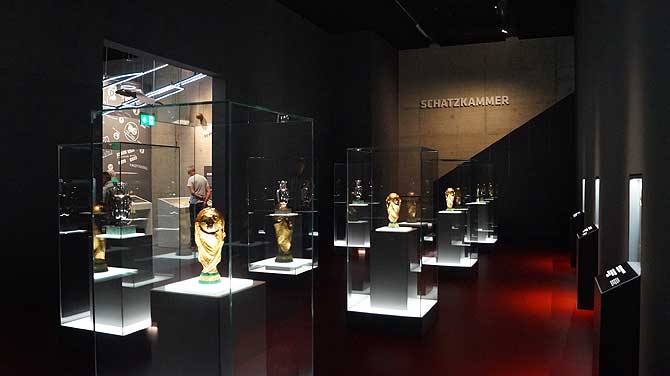 Schatzkammer im Fußballmuseum