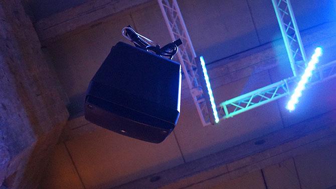 Lautsprecher in den Katakomben