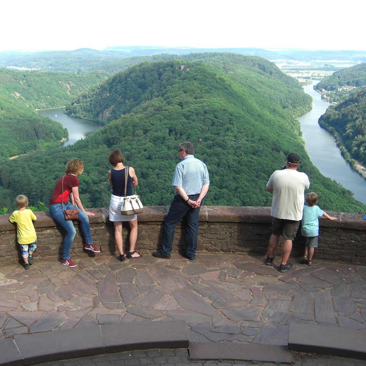 Das bekannteste Fotomotiv ist die Saarschleife in Mettlach.
