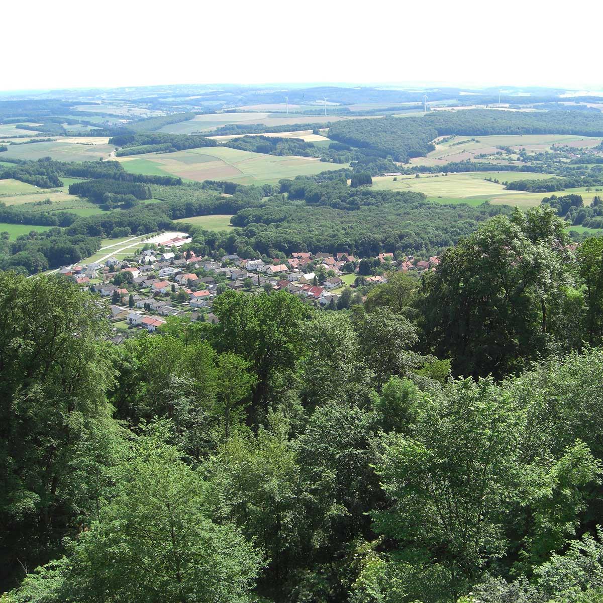 Ausblick vom Schaumbergturm