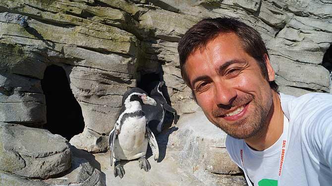 Ich mit Pinguinen
