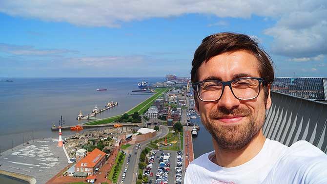 Ich throne über Bremerhaven