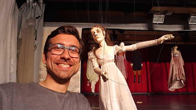 Ich mit Hauptdarstellerin Violetta aus der Marionettenoper Lindau