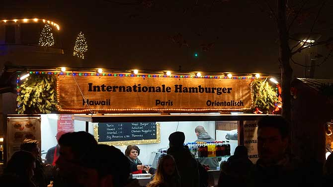 Internationale Weihnachtsmarkt-Spezialitäten