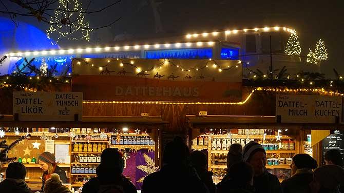 Dattelige Weihnachtsmarkt-Spezialitäten