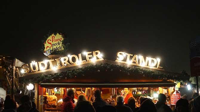 Südtiroler Weihnachtsmarkt-Spezialitäten