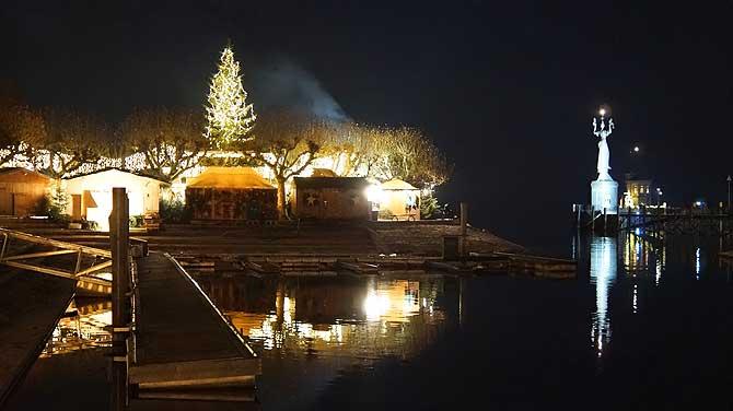 Imperia und Weihnachtsbaum