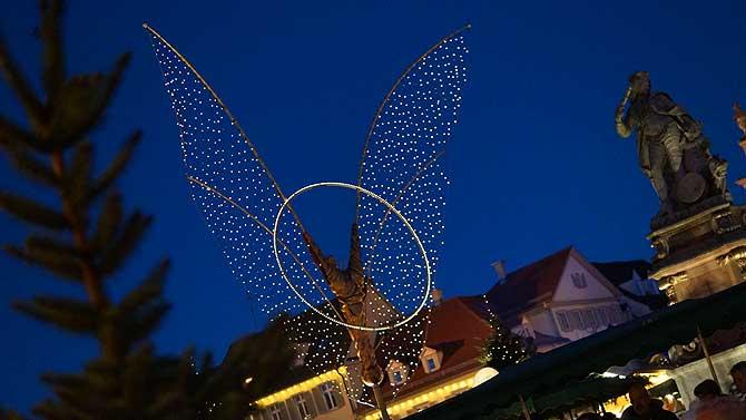 Engel auf dem Ludwigsburger Weihnachtsmarkt