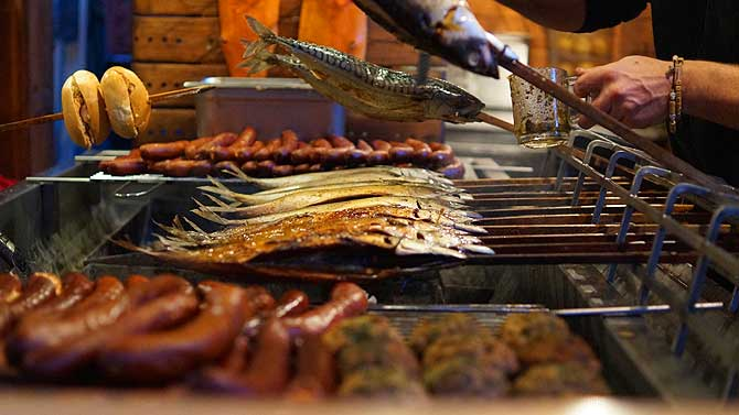 Fisch auf Grill