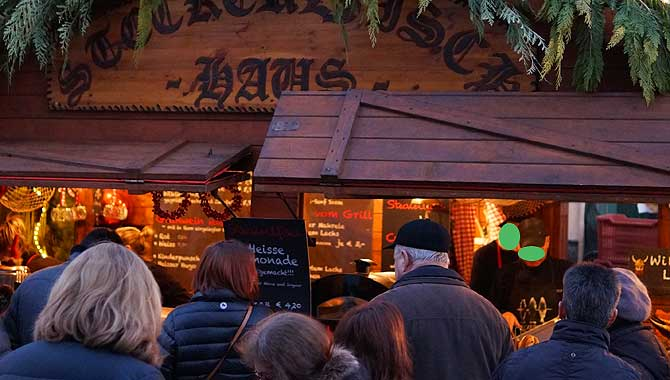 Stockfisch-Haus auf dem Weihnachtsmarkt in Ludwigsburg