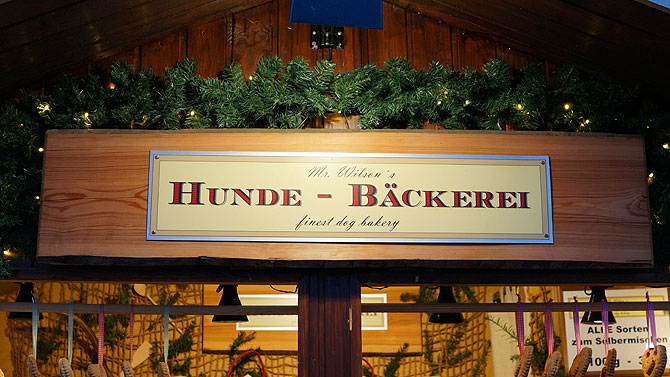 Hundebäckerei auf dem Reutlinger Weihnachtsmarkt