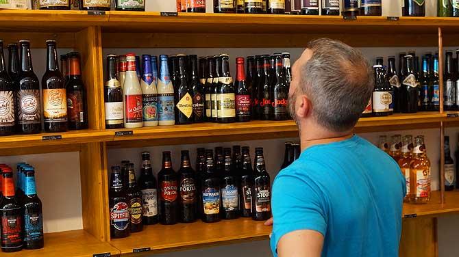 Große Auswahl an Bieren