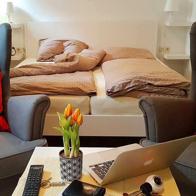 Doppelzimmer bzw. Doppelbett