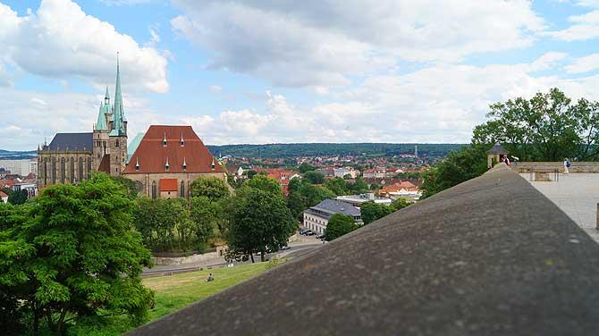 Ausblick von der Aussichtplattform auf dem Petersberg