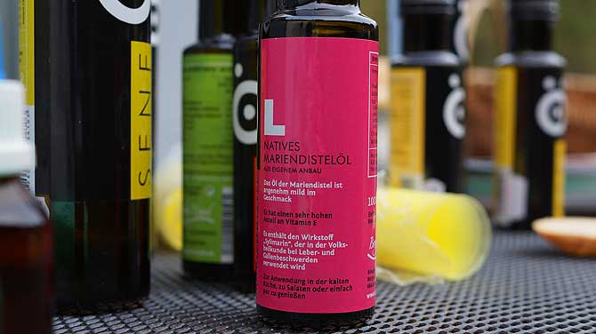 Mariendistel Öl und Senf