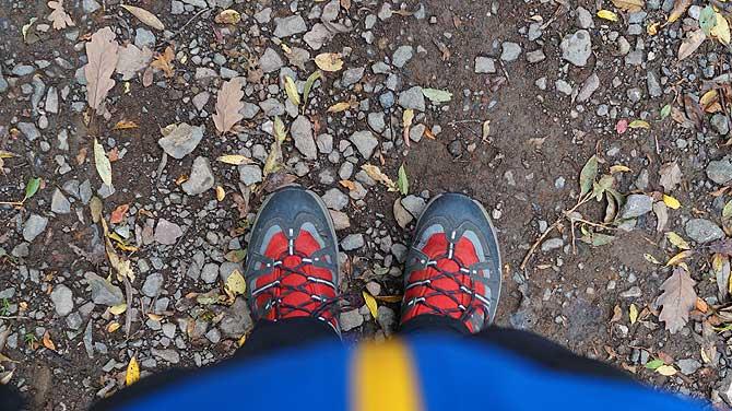 Festes Schuhwerk ist sinnvoll