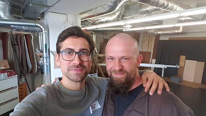 Ich und Techniker Alex im SMAC Chemnitz