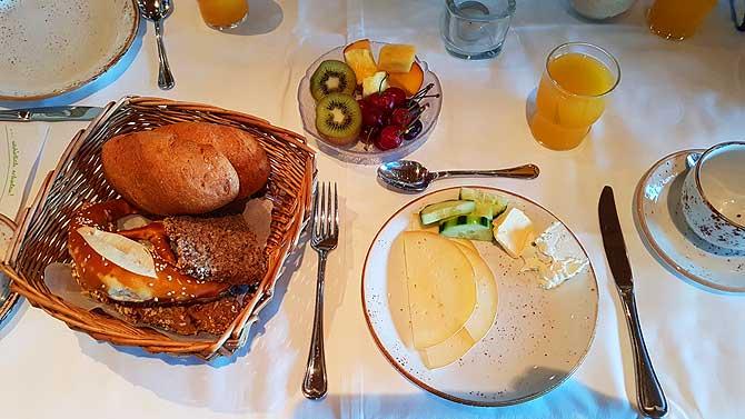 Regionales Frühstück im Biohotel Eggensberger