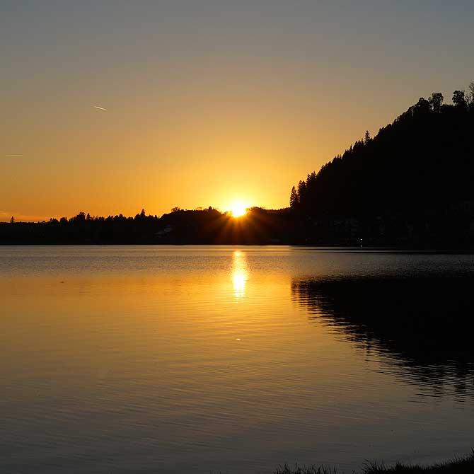 Sonnenuntergang am Hopfensee