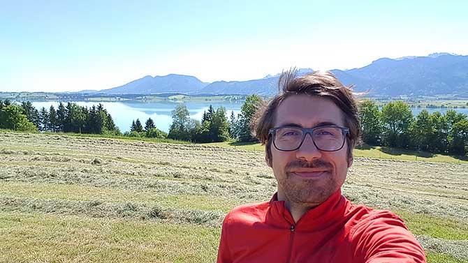 Ich auf dem Forggensee Radweg bei Füssen