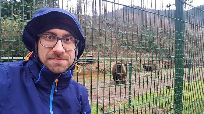 Ich im Bärenpark Bad Rippoldsau im Schwarzwald