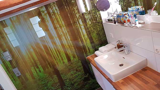 Badezimmer in Grün