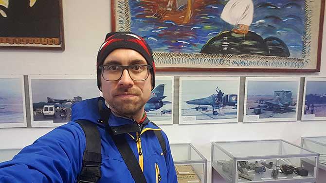 Ich im Luftfahrtmuseum Rechlin