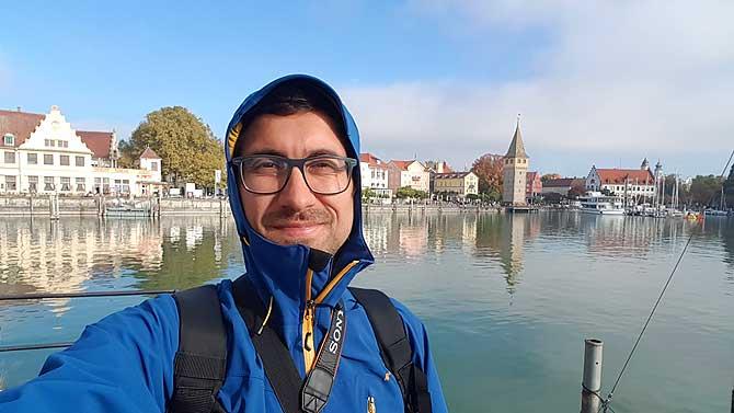 Ich am Hafen, einem der wichtigsten Sehenswürdigkeiten in Lindau