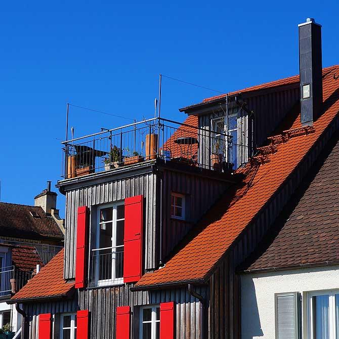 Typisch Lindau sind die Balkone