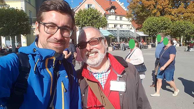 Ich und Stadtführer Michael Blume