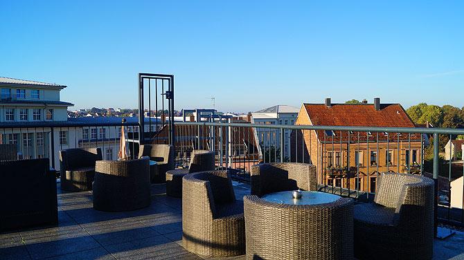 Dachterrasse vom Pirmasenser City Hotel