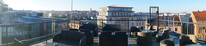 Panorama der Dachterrasse