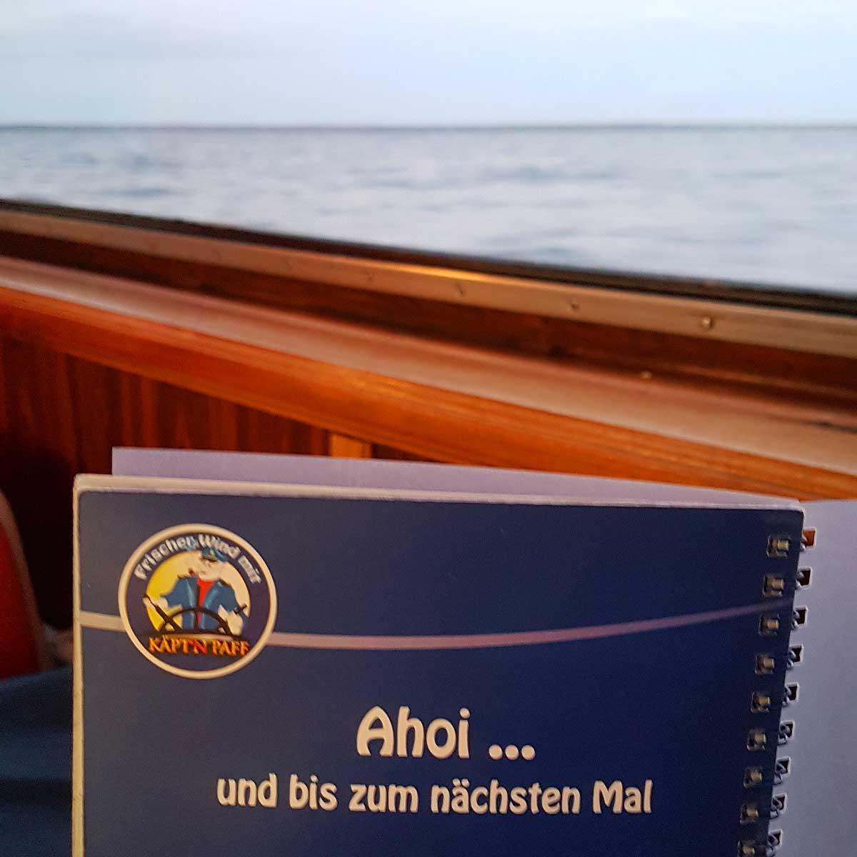 Schiff Ahoi mit der Blau Weißen Flotte auf der Müritz
