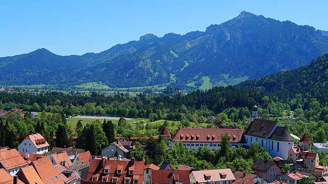 Auch Berge gehören zu den schönsten Sehenswürdigkeiten in Füssen