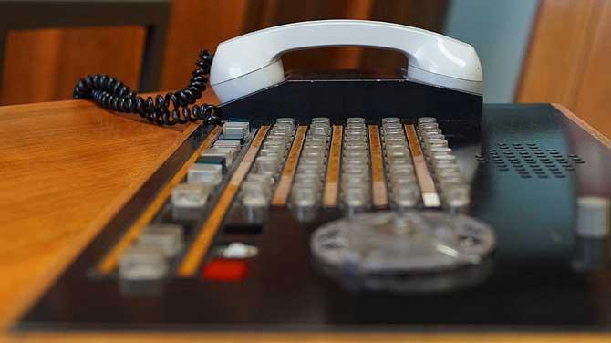 Telefon im Berliner Stasimuseum