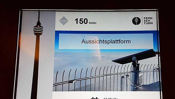 Aufzug im Stuttgarter Fernsehturm