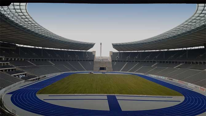 Spielfeld im Olympiastadion Berlin