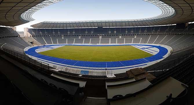Das Fußballfeld in seiner vollen Pracht