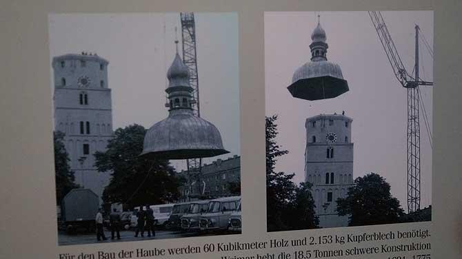 Kirchturm von Lübben oben ohne