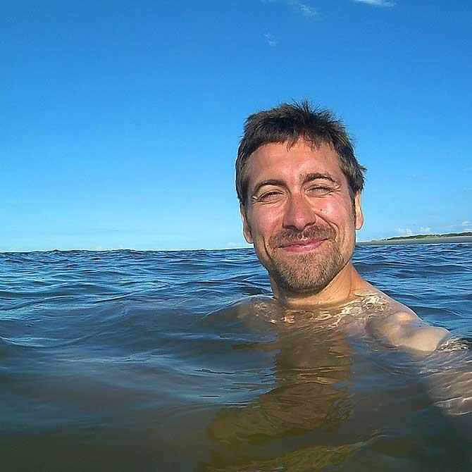 Ich schwimme in der Nordsee